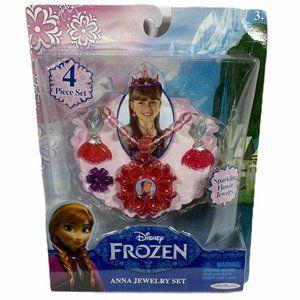 Disney FROZEN Anna 4 Piece Pink Flower Jewelry SET